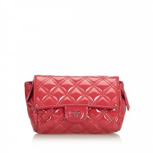Chanel Matelasse Patent Leather Cosmetic Pouch