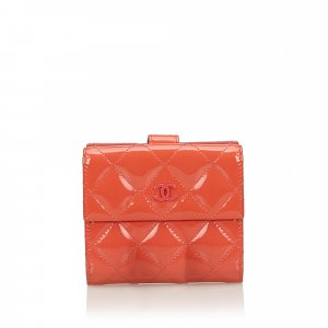 Chanel Wallet orange imitation leather
