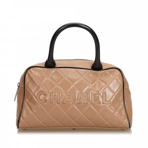 Chanel Matelasse Quilted Leather Handbag