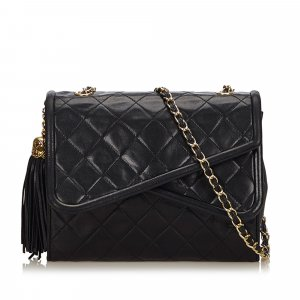 Chanel Matelasse Tassel Double Flap Bag