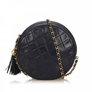 Chanel Matelasse Tassel Lambskin Leather Bag
