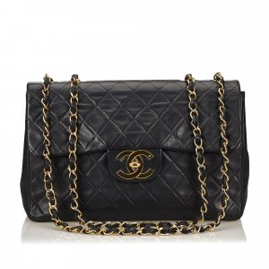 Chanel Borsa a tracolla nero Pelle