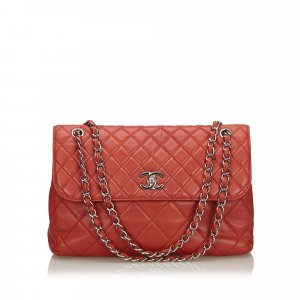 Chanel Maxi Quilted Lambskin Leather Flap Bag