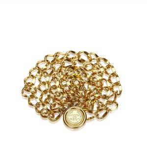 Chanel Cinturón color oro metal