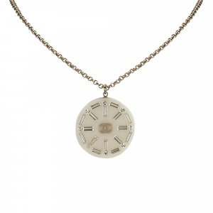 Chanel Necklace white metal