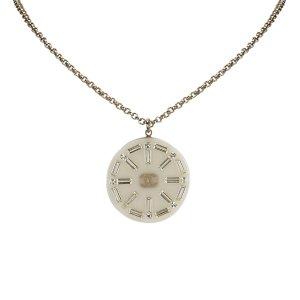 Chanel Collar blanco metal
