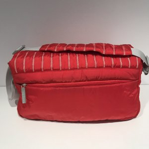 Chanel Canvas Bag neon red nylon
