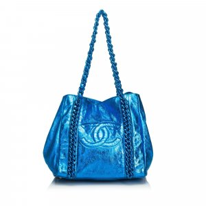 Chanel Metallic Modern Chain E/W Tote Bag