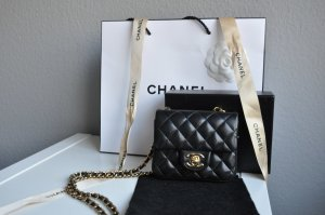 Chanel Borsa nero-color cammello Pelle
