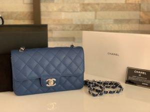Chanel Mini Rectangular in blauem Caviar Leder Original !