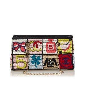Chanel Multicolore Crochet Patchwork Icons Shoulder Bag