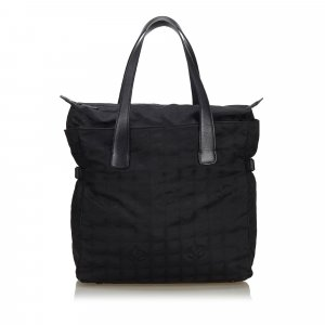 Chanel New Travel Line Canvas Tote Bag