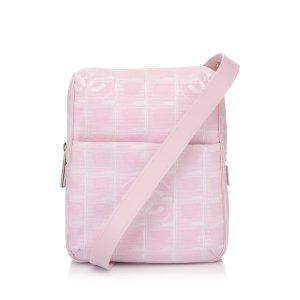 Chanel Borsa a tracolla rosa pallido Nylon