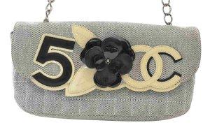 CHANEL No.5 & Camellia Canvas x Enamel Semi-Shoulder Bag