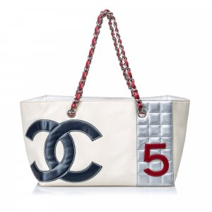 Chanel No. 5 Canvas Shopping Tote Bag