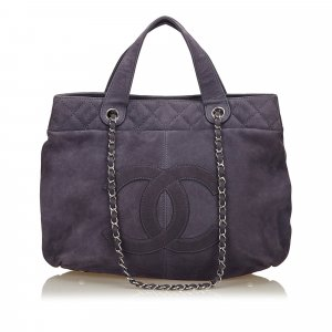Chanel Nubuck Leather 2 Way Bag
