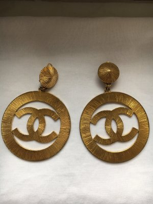 Chanel Ohrclips mit CC Logo Vintage