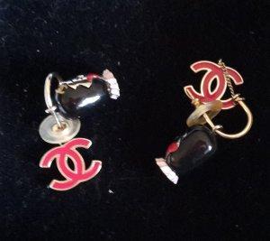 Chanel Ohrhänger mit Logo