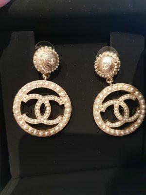 Chanel Orecchino a clip bianco