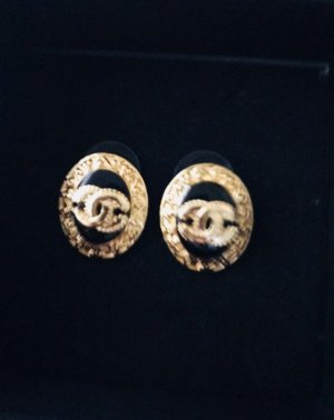 Chanel Earring gold-colored-black