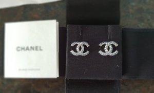 Chanel Zarcillo color plata-azul