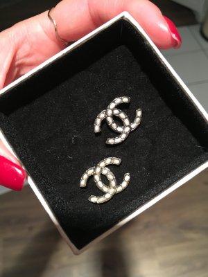 Chanel Boucle d'oreille gris anthracite-noir