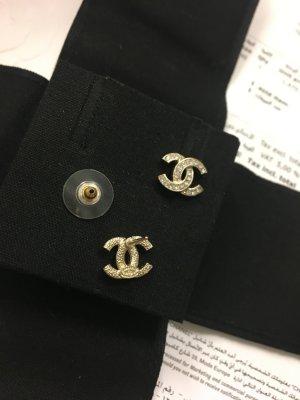 Chanel Clou d'oreille chameau métal