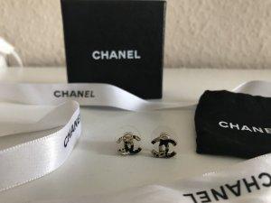 Chanel Ohrringe Goldfarben & Schwarz