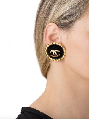 Chanel Orecchino a clip nero-oro