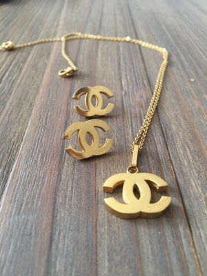 Chanel Necklace gold-colored