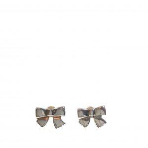 Chanel Ear stud silver-colored real silver