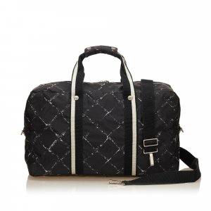 Chanel Weekendtas zwart Nylon