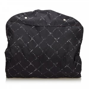 Chanel Bolso de viaje negro Nailon