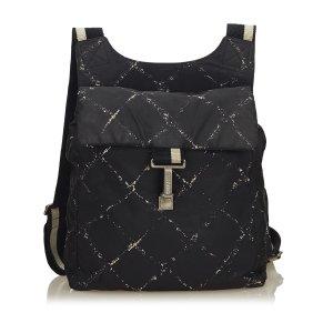 Chanel Old Travel Nylon Backpack