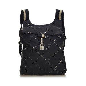 Chanel Backpack black nylon