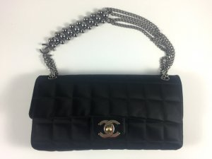 Chanel ORIGINAL 2.55 Flap schwarz silver hardware TOP ZUSTAND!