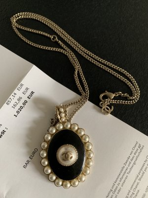 Chanel Original Kette - np 430€ schwarz mit Perlen