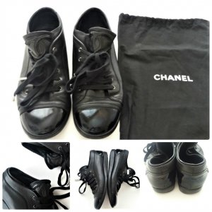 CHANEL Original Sneaker Schwarz Schuhe Turnschuhe Trainers Size 36,5/37