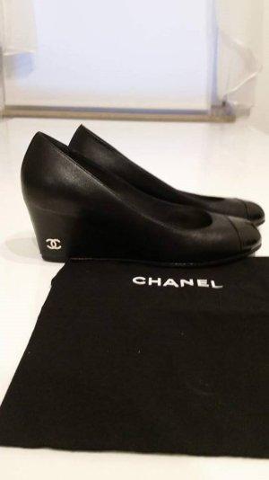 Chanel original wedges pumps NP 895€ Kardashian 36.5