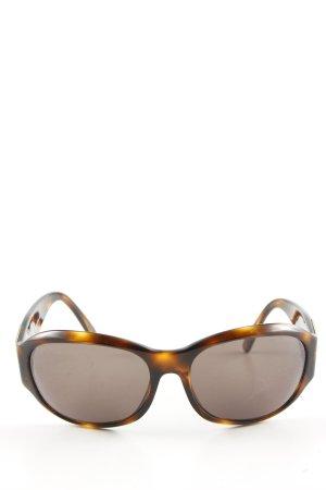 Chanel Occhiale da sole ovale arancione chiaro-marrone Colore sfumato