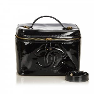 Chanel Patent Leather 2 Way Vanity Bag