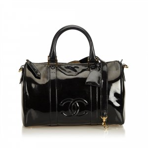Chanel Patent Leather Boston Bag