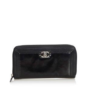 Chanel Wallet black imitation leather