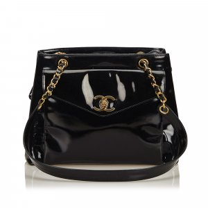 Chanel Bolsa de hombro negro Imitación de cuero