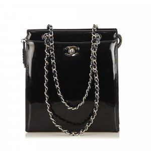 429d384717df5 Chanel Patent Leather Chain Shoulder Bag