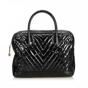 Chanel Patent Leather Chevron Business Bag