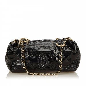 Chanel Sac à main noir faux cuir