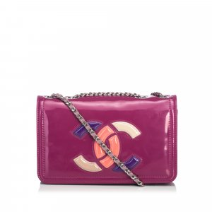 Chanel Patent Leather Lipstick Shoulder Bag