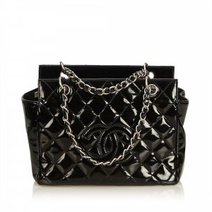 Chanel Patent Leather Petite Timeless Tote