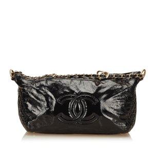 Chanel Borsa a tracolla nero Finta pelle